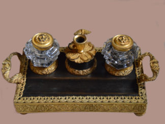 George-III-bronze-and-gilt-Inkstand
