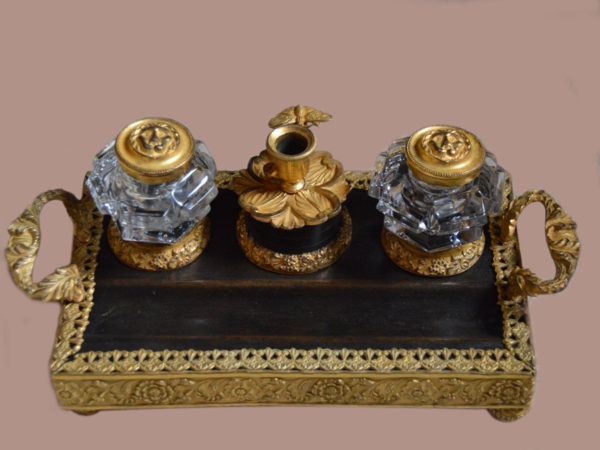 George-III-bronze-and-gilt-Inkstand