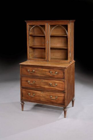George-III-mahogany-chest-with-bookshelves