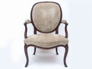 Cabriole-leg-open-armchair