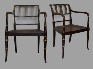 A-pair-of-George-III-Armchairs