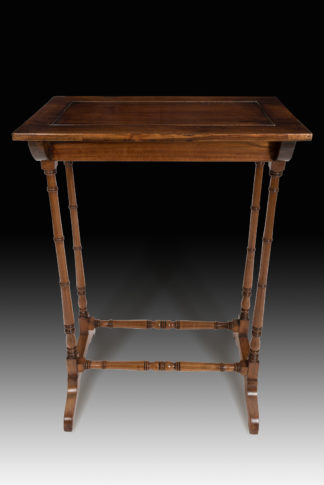 Charming-George-III Regency-rosewood-crocus-table