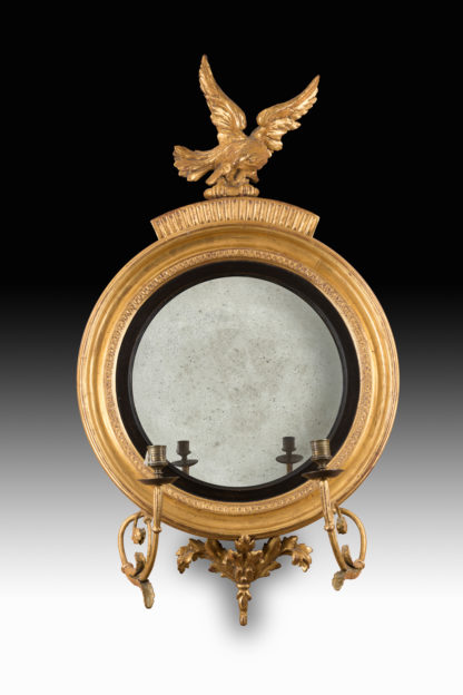 George-III-Regency-Period-giltwood-convex-mirror