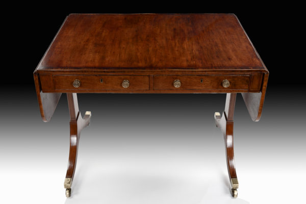 Elegant-George-III-Sofa-Table-in-plum-pudding-mahogany