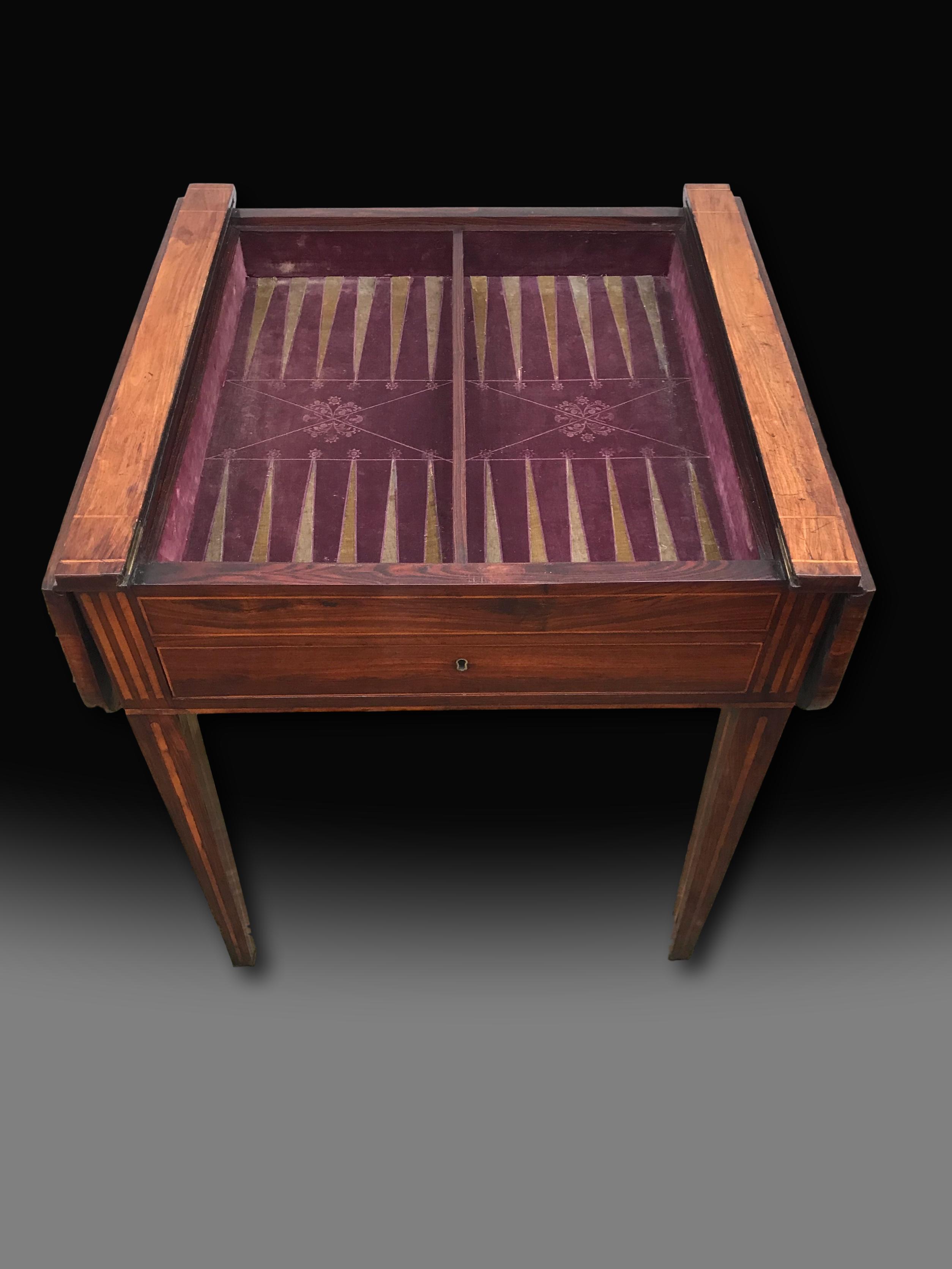 George Iii Chess Backgammon And Sofa Table