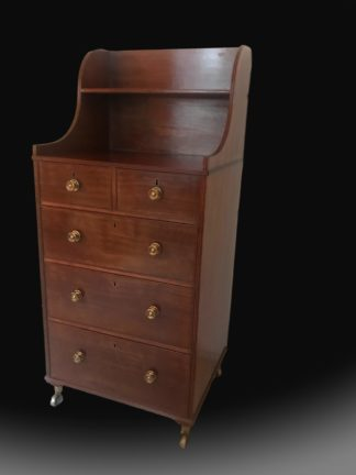 A rare George 111 Mahogany Chest of drawers