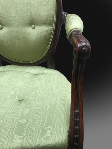George III Hepplewhite Period Armchairs 3