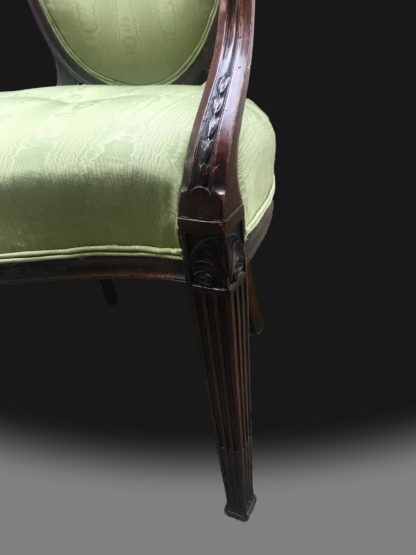 George III Hepplewhite Period Armchairs 4