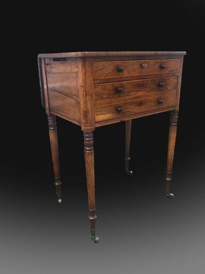 George III Regency Period Rosewood Worktable
