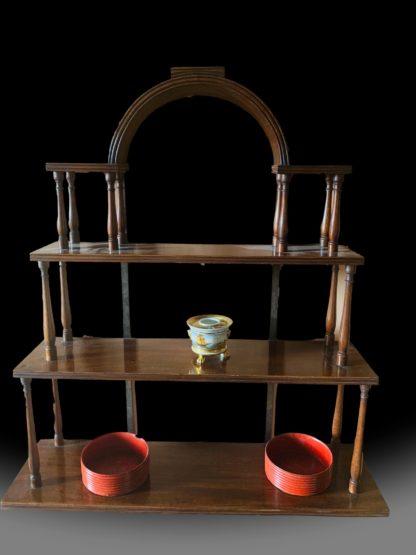 George III mahogany hanging shelves