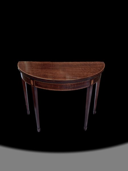 George III Demi lune card table
