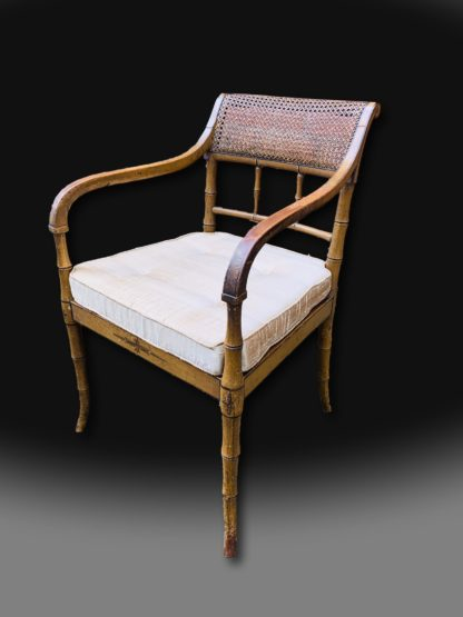 George III Regency Period Armchair in beechwood