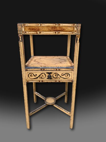 Decorative and unusual Regency painted washstand