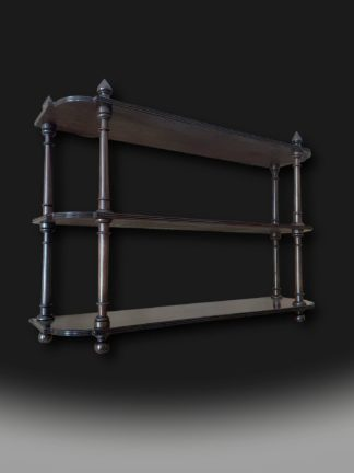 Charming George 111 Mahogany Hanging Shelves