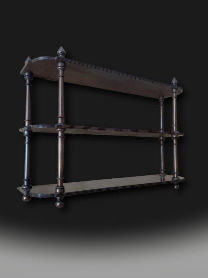 Charming George 111 Mahogany Hanging Shelves