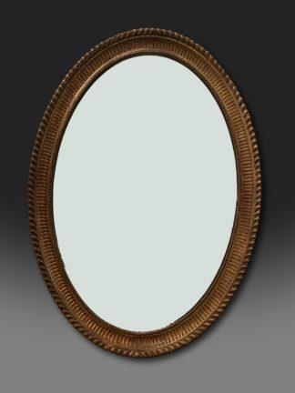 George III oval Adam giltwood mirror