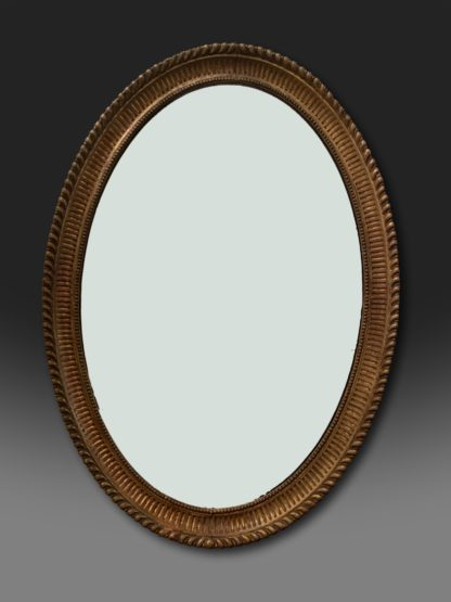George III oval Adam giltwood mirror