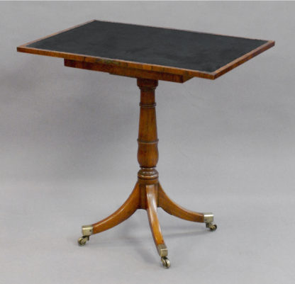 Unusual George III Regency rosewood folding Games Table of small size in pleasing faded rosewood, retaining the original patination,