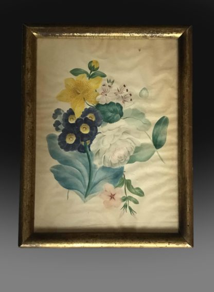 Early 19th century watercolour on paper of flowers