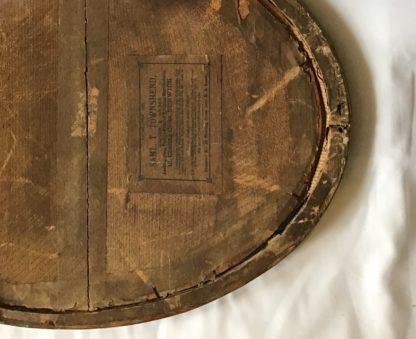 Mid 19th century giltwood mirror back