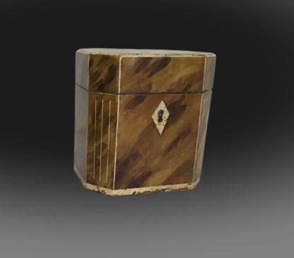 George III octagonal tea caddy